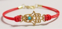 Free Shipping Wholesale 30Pcs/lot   4 colour HAMSA FRIENDSHIP BRACELET Festival Hand Fashionable Boho Fatima Kabbalah