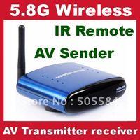 Brand 5.8G wireless AV transceiver kit with 433MHz IR Remote signal extender Audio video sender 200M distance Plug and play