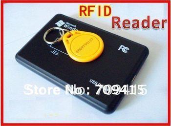 10pcs/Lots New Security Black USB RFID Reader Proximity Sensor ID Smart Card Reader 125Khz EM4100 + Free Shipping