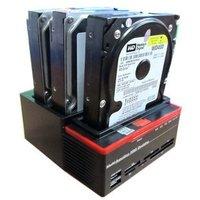 "Multi-Function 2.5""/3.5"" 2x SATA 1x IDE HDD Docking Station Clone USB 2.0 HUB"