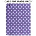 Фиолетовый с Белыми горошинами Стоять Случае Рассмотрение В 9,7 Дюйма iPad 2 iPad 3 Таблетки защитник рассмотрение Беспл