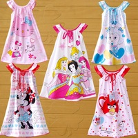 Child nightgown female child nightgown child sleepwear 100% cotton short-sleeve suspender skirt baby sleepwear