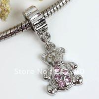 $15 off per $150 order Free shipping 5pcs Bear Spacer Dangle European Bead Fit Charm Bracelet