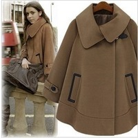 2014 WINTER COLLECTION [YZ018]high fashion women's outerwear,trench, female woolen coats jackets free shipping