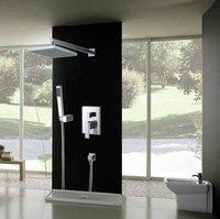 """10"""" Bathroom Rainfall Shower head+ Arm + Hand Spray+Valve Shower Faucet  CM0565"""