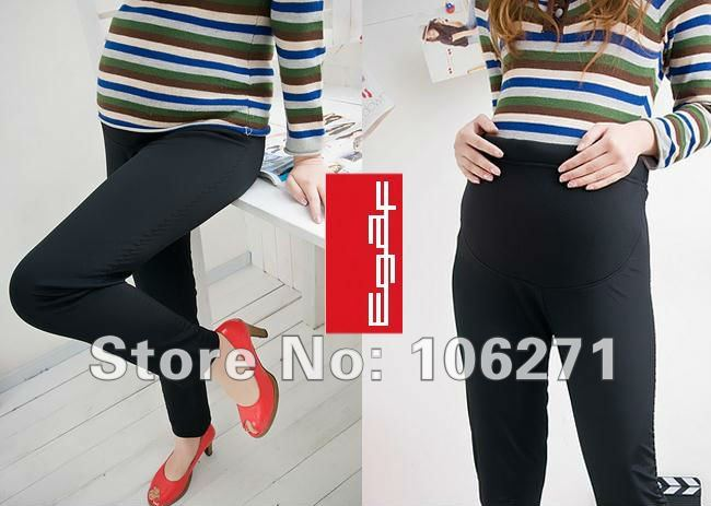 FREE SHIPPING 2012 pregnant women/mothertobe gravida Double bamboo charcoal flocking thickening leggings Abdominal render pants(China (Mainland))