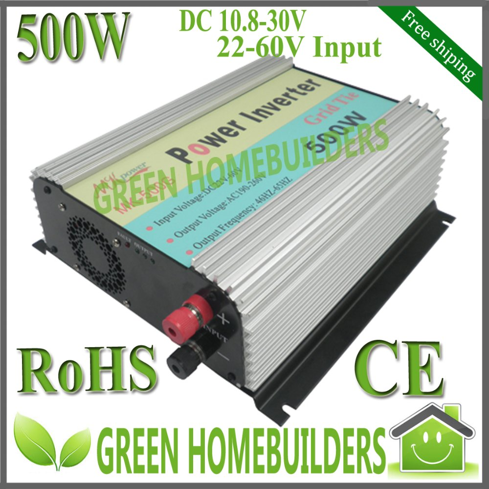 free shipping , CE , RoHS, 500W solar Grid Tie Inverter DC 10.8~30V/22-60V , MPPT function,easy installation(China (Mainland))