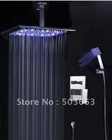 "8"" LED Shower Head Bathroom Rainfall Shower Complete Faucet Shower Set CM0573"