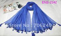 FREE SHIPPING,single scarf with tassel,plain shawl,fashion ladies scarf,size is 110*180cm,2012 new design,women's scarf