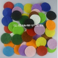 1000pcs/lot 3cm DIY wholesale flower pad round felt mix colors Free shipping
