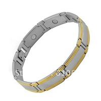 New Beautiful Stainless Steel Link Magnetic Bracelet with Gold
