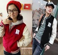 Spring trend sportswear baseball uniform male women's jacket lovers outerwear thickening sweatshirt