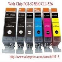 525 526  New  Compatible ink cartridge PGI-525/CLI-526  for Canon PIXMA Printer IP4800 IP4850 IP4950 IX6250 IX6650 MG5150 MG5250