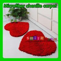 SMILE MARKET Free shipping Retail Floor Love Red Heart Carpet for Living Room