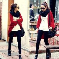 [Cerlony]Free Shipping New Fashion Women Lady Loose Bat Dolman Sleeve Knit Sweater Top Cardigan Shawl Cape Knitted Sweater05