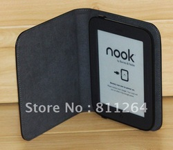 Leather Cover for Nook 2 ,leather case for Nook 3G simple touch Noble free shipping(China (Mainland))