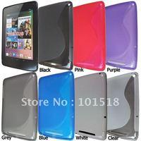 100pcs/lot Free shipping  S-Line Soft TPU Gel Case for Google Nexus 7 New