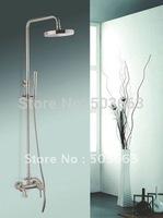 "Antique Brass Rainfall 8"" Round Shower Head Complete Faucet Shower Set CM0611"