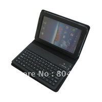 Wireless Bluetooth Keyboard Leather Cover Case Skin for Samsung Galaxy Tab P1000, Retail Box +Drop Shipping+Free Shipping
