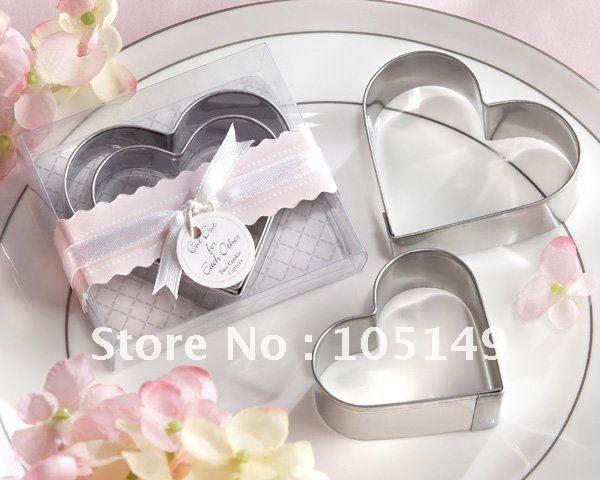 Grátis frete atacado casamento favorece o DG005 40 pçs/lote coração cortadores de biscoito(China (Mainland))