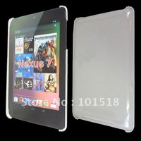 5pcs/lot&free shipping Crystal Clear Back Cover Hard Case for Google Nexus 7