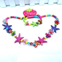 Free shipping new 10sets/lot Children jewelry best baby products! children/kid Acryl jewelry set handmade bracelet necklace