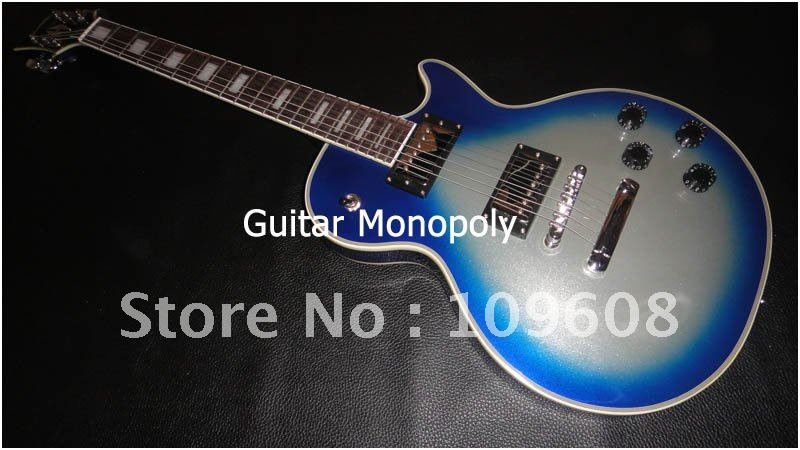 Wholesale - 2012 New arrival light Blue silver burst color custom model Electric guitar in stock / HOT(China (Mainland))