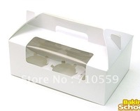 cake pack cake box White window 6 CUPCAKE portable cake box