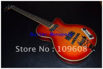 Wholesale - 2012 cherry sun burst Point fretboard inlay Jazz bridge OEM 4 string Bass guitar/OEM
