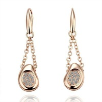 18KGP Freeshipping, 18K gold plated earrings, Fashion jewelry, , plating platinum, Rhinestone new