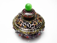 Wholesale(60pcs Pack)-2012 new flower & Incense burner bronze plated sharp pewter Alloy metal jewelry box