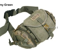 MULTIFUNCTION_COOL Men's Strang Canvas Waist Fanny bag M181 Free shipping