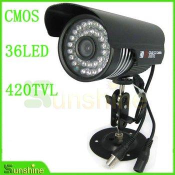 420TVL 36LED Nightvision Indoor/Outdoor  Waterproof Color CMOS IR CCTV Camera Free Shipping