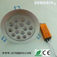$10 off per $100 Free shipping 15W LED Ceiling Light Down light  Spotlight Lamp Cool White| Warm White 85V-265V10pcs/lot