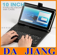 10 inch Tablet Keyboard Leather Case English or Russian for Tablet PC Free Shipping  C91 C92/ Flytouch 3 4 6 7 8  Allwinner A10