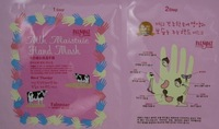 wholesale 100pcs/lot Milk moisturize &amp; Whitening Hand Mask