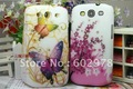 Flower + flash diamond Hard Back Cover Shell Skin Case For Samsung i9300 Galaxy S 3 SIII