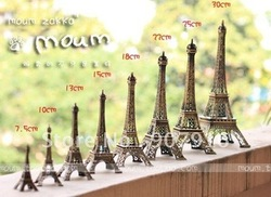 wholesale retail high 10cm metal craft arts 3D Eiffel Tower model French france souvenir paris home decoration gift desk office(China (Mainland))