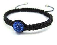 >$10 Free Shipping, dark blue crystal bead shamballa bracelet  ,2012  charm  beads,Strand rope shamballa bracelet