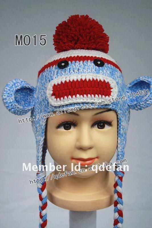 Free Knitting Pattern For Baby Monkey Hat : Popular Free Crochet Monkey Hat Pattern Aliexpress