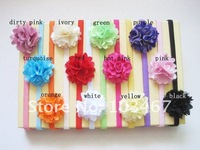 50sets/lot 9 colors for your choosen rose flower headband whole sale best price