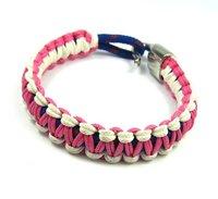 Wholesale 100pcs/lot pink elastic cotton bracelet  for men, 2013  charm  Strand rope  colorful bracelet