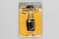 New Black Suitcase Combination Travel Luggage Padlock free shipping