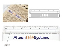 6 inch Magnifying Ruler, Two functions: ruler and magnifier