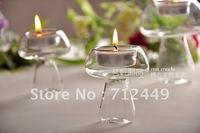 Glass Candleholder for home decoration, Mushroom shape Candleholder, 4pcs/lot , free shipping CH05