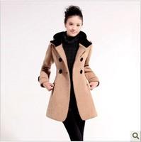EAST KNITTING FREE SHIPPING QD-011 Fashion VIVI Women leopard hoodies No-Sleeve Outerwear Fur long Vest