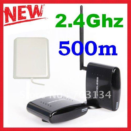 2.4G AV Sender Wireless Transmitter Receiver 500meters with Antenna Box Freeshipping&Dropshipping(China (Mainland))