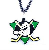 Mighty Ducks Pendant Necklace Fashion Acrylic Necklace Fashion Men Jewelry Hip Hop Necklace Mix Order