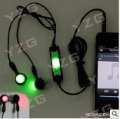 The 3.5MM authentic LED colorful light-emitting diamond ear headphones MP3 cell phone headset / computer headset