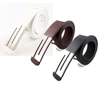 FREE SHIPPING! Retail and Wholesale! Fashion Faux Leather Premium S Shape Metal Mens strap man Ceinture Buckle Belt men's belt
